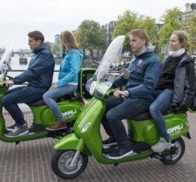 Άμστερνταμ το πρωτοπόρο! Ταξι-scooter γρήγορα και οικολογικά! - Κυρίως Φωτογραφία - Gallery - Video