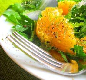 Σαλάτα ρόκα με vinaigrette πορτοκαλιού, μοτσαρέλα και γλυκοπατάτα ! Θα με θυμηθείτε! - Κυρίως Φωτογραφία - Gallery - Video