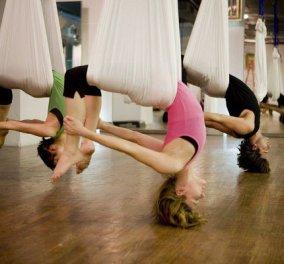 Κάντε aerial yoga - εναέρια γιόγκα για κορμί φιδίσιο  - Κυρίως Φωτογραφία - Gallery - Video