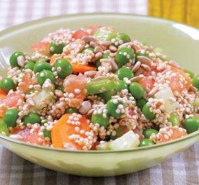 Μια συγκλονιστική σαλάτα με κινόα και ολόφρεσκο αρακά από τον σεφ Χριστόφορο Πέσκια -αποκλειστικά για τον blog μου ! - Κυρίως Φωτογραφία - Gallery - Video