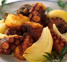 Χταπόδι τραγανό με μπαλσάμικο και μέλι - Κυρίως Φωτογραφία - Gallery - Video