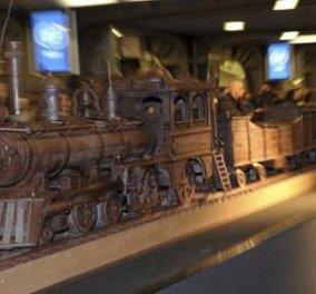 Τρένο 34 μέτρων φτιαγμένο από σοκολάτα. Μας ανοίγει την όρεξη!  - Κυρίως Φωτογραφία - Gallery - Video