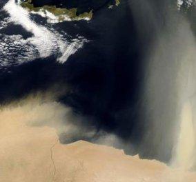 Δείτε πως αποτύπωσε δορυφόρος της NASA την αφρικανική σκόνη πάνω από την Ελλάδα! (φώτο) - Κυρίως Φωτογραφία - Gallery - Video