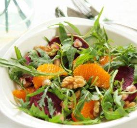 Σαλάτα με παντζάρια, πορτοκάλι και φέτα - Θρεπτική και ελληνικότατη! Μάθετε και για το παντζάρι μερικά tips υγείας και γαστρονομίας - Κυρίως Φωτογραφία - Gallery - Video