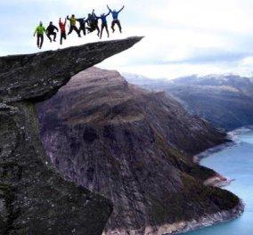 Φωτογραφία της ημέρας: Ατρόμητοι πεζοπόροι στη Νορβηγία, στην άκρη του γκρεμού! - Κυρίως Φωτογραφία - Gallery - Video