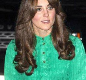 Πριγκήπισσα Kate με φράντζα στα μαλλιά και πράσινο φουστάνι της ελπίδας... - Κυρίως Φωτογραφία - Gallery - Video