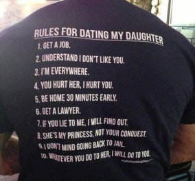 Smile: Rules for dating my daughter - Το t-shirt ενός Κρητικού! - Κυρίως Φωτογραφία - Gallery - Video