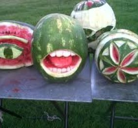 Καλλιτεχνηματα με το φρούτο του καλοκαιριού που δεν είναι άλλο από το καρπούζι! (video) - Κυρίως Φωτογραφία - Gallery - Video