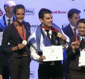 Good news : Ο Έλληνας μπάρμαν Παναγιώτης Γκοβάτσος πήρε το πρώτο βραβείο για το καλύτερο κοκτέιλ του κόσμου από 56 χώρες  με ελληνικά αρωματικά! Στην υγεία του!  - Κυρίως Φωτογραφία - Gallery - Video