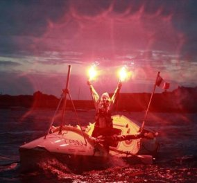 Topwoman η Μιλέν Πακέτ που διέσχισε με κουπί τον Ατλαντικό - 4.300km σε 129 ημέρες! (φωτό) - Κυρίως Φωτογραφία - Gallery - Video