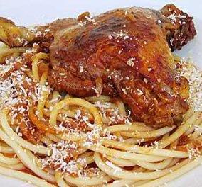 O σεφ Κωνσταντίνος Μουζάκης μας μαγειρεύει σήμερα Λευκαδίτικο κόκορα με μακαρόνια! - Κυρίως Φωτογραφία - Gallery - Video