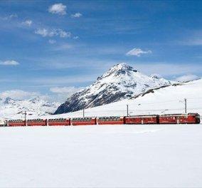 Καλημέρα με μοναδικά ταξίδια με τρένο σε χειμωνιάτικα, παραμυθένια τοπία της Ευρώπης (φωτογραφίες) - Κυρίως Φωτογραφία - Gallery - Video