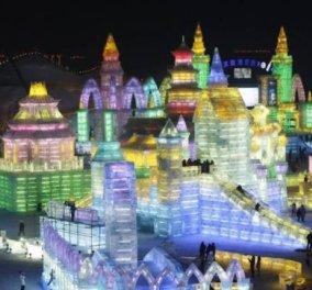 Καλημέρα! Πάμε να δούμε εκπληκτικές κατασκευές, μια ολόκληρη πόλη από πάγο στο μεγαλύτερο Φεστιβάλ παγωμένων γλυπτών στην Κίνα (φωτό) - Κυρίως Φωτογραφία - Gallery - Video