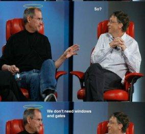 Θεϊκό χιούμορ! Ο Steve Jobs συνομιλεί από τον ουρανό με τον Bill Gates! - Κυρίως Φωτογραφία - Gallery - Video