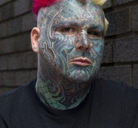 Αρνούνται να εκδώσουν διαβατήριο με νέο όνομα στον άνθρωπο που έχει ξοδέψει πάνω από £ 25,000 για τατουάζ! - Κυρίως Φωτογραφία - Gallery - Video