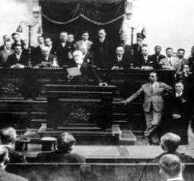 Όταν ο Θεόδωρος Πάγκαλος έβγαλε περίστροφο μέσα στη Βουλή- Για τον παππού του σημερινού πρώην υπουργού μιλάμε... - Κυρίως Φωτογραφία - Gallery - Video