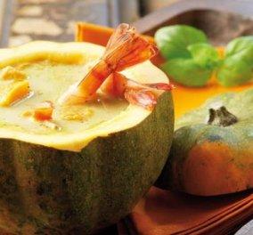 Μια σούπα... εξωτική με ψητή κολοκύθα, γαρίδες και καρύδα! Κι όλα αυτά μέσα σε 40'! Μάθετε πώς! - Κυρίως Φωτογραφία - Gallery - Video