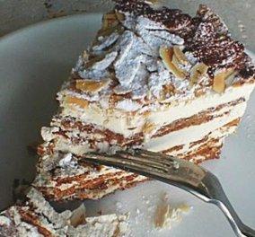 Πεντανόστιμη τούρτα με βάση μαρέγκα και γέμιση σοκολάτας από τον σεφ μας, Κωνσταντίνο Μουζάκη...  - Κυρίως Φωτογραφία - Gallery - Video