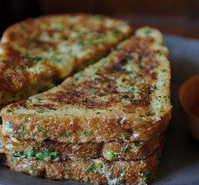 Τραγανό αλμυρό γαλλικό τoστ, έτοιμο σε 15 λεπτά - Ένα πανεύκολο ψωμάκι για να συνοδεύεις τα πιάτα σου! - Κυρίως Φωτογραφία - Gallery - Video