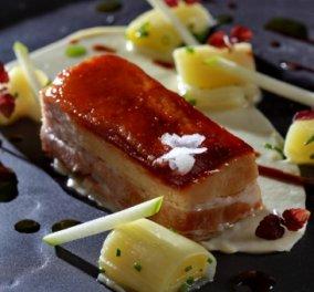 Χοιρινή πανσέτα με πράσο μπρεζέ, πουρέ σελινόριζα και σάλτσα κόλιανδρο από τον εξαιρετικό σεφ Γιάννη Λουκάκο! - Κυρίως Φωτογραφία - Gallery - Video