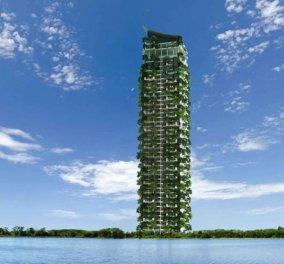 Υπέροχος στη Σρι Λάνκα ο ψηλότερος κατακόρυφος κήπος στον κόσμο- Απλώνεται σε 46 ορόφους και 164 διαμερίσματα (φωτογραφίες) - Κυρίως Φωτογραφία - Gallery - Video
