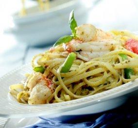 Λιγκουίνι με γαρίδες, πέστο, φασολάκια και ντοματίνια για όσους νηστεύουν και μη από τον εξαιρετικό σεφ Γιάννη Λουκάκο! - Κυρίως Φωτογραφία - Gallery - Video