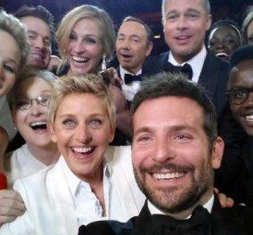 Ένα δισ. δολάρια η αξία της selfie φωτογραφίας που έβγαλε η Έλεν Ντε Τζενέρις στα Όσκαρ - Κυρίως Φωτογραφία - Gallery - Video