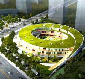 Πρωτοποριακό σχολείο με πράσινη οροφή και  οικολογικές διαδρομές! Όχι στην Ελλάδα βέβαια...(φωτό) - Κυρίως Φωτογραφία - Gallery - Video
