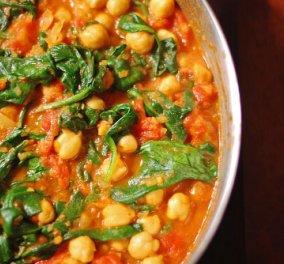 Κρητικά ρεβύθια με σπανάκι και ντομάτα στην κατσαρόλα! - Κυρίως Φωτογραφία - Gallery - Video