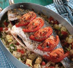 Ψάρι στο φούρνο με λαχανικά για να φύγουν οι θερμίδες των γιορτών με νοστιμιά! - Κυρίως Φωτογραφία - Gallery - Video