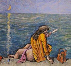 Λίγο καρπούζι, λίγο θάλασσα & το κορίτσι μου - Η γκαλερί του eirinika, φιλοξενεί σήμερα τον Παύλο Σάμιο, τον ζωγράφο του καλοκαιριού, των γεύσεων & των αισθήσεων! (φωτό) - Κυρίως Φωτογραφία - Gallery - Video