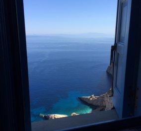 Καλημέρα από τη Φολέγανδρο! Όταν βλέπεις αυτήν τη θέα από το δωμάτιό σου τι λες; Δόξα τώ Θεώ της Ελλάδας! (φωτό) - Κυρίως Φωτογραφία - Gallery - Video