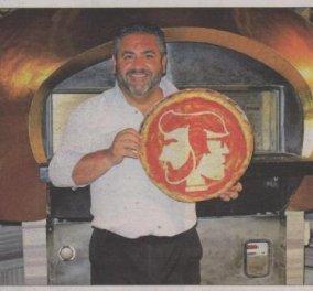 «Έργα τέχνης» που τα βλέπεις και λυπάσαι να τα... φας! Ο πιτσαδόρος Ντομένικο Κρόλα ξετρελαίνει τον κόσμο με τις πίτσες... πορτρέτα του! Δείτε τις! - Κυρίως Φωτογραφία - Gallery - Video
