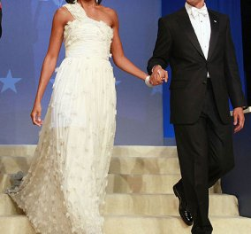 Σπαζοκεφαλιά της ημέρας για ..δυνατούς λύτες (χα) : τι θα φορέσει στην ορκωμοσία η Michelle σε λίγες ώρες ? ( φωτό &σκίτσα) - Κυρίως Φωτογραφία - Gallery - Video