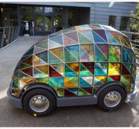 Δείτε το αυτοκίνητο του μέλλοντος ! Χωρίς οδηγό και με σκεπή από πολύχρωμα βιτρώ ! Πως σας φαίνεται; (φωτό) - Κυρίως Φωτογραφία - Gallery - Video