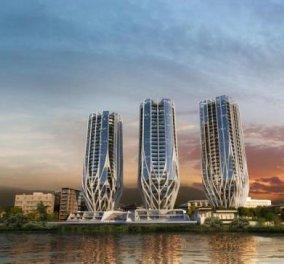 Τα 3 νέα αρχιτεκτονικά αριστουργήματα της Ζάχα Χαντίντ στην Αυστραλία μοιάζουν με λουλούδια έτοιμα να «ανθίσουν» (Φώτο) - Κυρίως Φωτογραφία - Gallery - Video