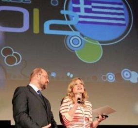 Οι έλληνες δημοσιογράφοι Ελίνα Μακρή και Γιώργος Κοκκόλης κέρδισαν το πρώτο βραβείο νεότητας Καρλομάγνος! - Κυρίως Φωτογραφία - Gallery - Video