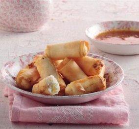 Απολαυστικά spring rolls με ανθότυρο και σος από μούσμουλα!! - Κυρίως Φωτογραφία - Gallery - Video