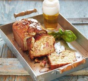 Αλμυρό κέικ με μπύρα, ζαμπόν και τυρί - Κυρίως Φωτογραφία - Gallery - Video
