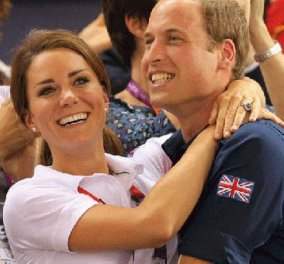 Οι Ολυμπιακοί ευκαιρία να σπάσει το πρωτόκολλο ο Γουίλιαμ και ν' αγκαλιάσει την Κέιτ! Απελευθερώθηκε το βασιλικό ζεύγος - Κυρίως Φωτογραφία - Gallery - Video