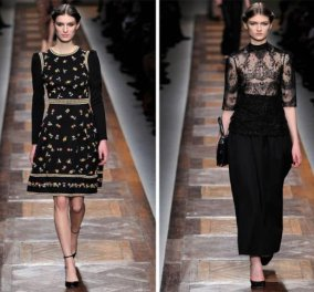 Ο Valentino εχει σειρά για τη μόδα 2012-2013 σε μαύρο και λευκό, ετσι απλά - Κυρίως Φωτογραφία - Gallery - Video
