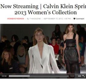 Βίντεο για κυρίες ONLY: Calvin Klein στη Νέα Υόρκη για την άνοιξη 2013 - Κυρίως Φωτογραφία - Gallery - Video