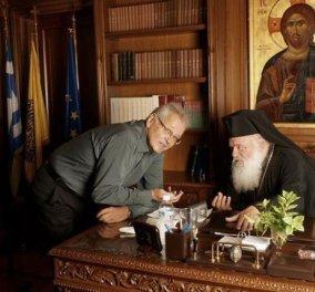 Αρχιεπίσκοπος σε αποκλειστική συνέντευξη στον Δημήτρη Κωνσταντάρα: ''Να ζητήσουμε συγνώμη από την λεγόμενη Δημοκρατία του σήμερα και να συνεργαστούμε για τα επόμενα 3 χρόνια τουλάχιστον...'' - Κυρίως Φωτογραφία - Gallery - Video