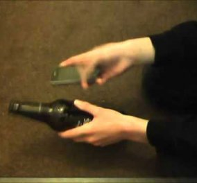Ο διασημότερος μάγος στον κόσμο, Dynamo, σας δείχνει πώς να βάλετε ένα κινητό μέσα σ' ένα μπουκάλι! - Κυρίως Φωτογραφία - Gallery - Video