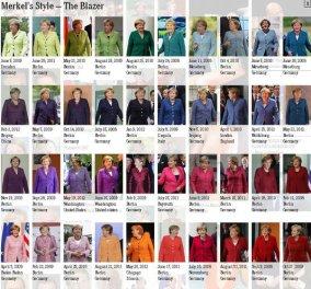 Η γυναίκα-blazer. Δείτε όλα τα σακκάκια της Άγκελα Μέρκελ ! Δύσκολη η απομίμηση πάντως… - Κυρίως Φωτογραφία - Gallery - Video