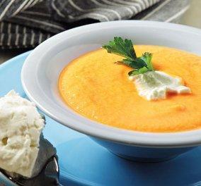 Με άρωμα μοσχοκάρυδου και μια ιδέα ''πορτοκάλι'' η καροτόσουπα βελουτέ που θα τους κάνει να θέλουν κι άλλο ... η Αργυρώ Μπαρμπαρίγου δημιουργεί! - Κυρίως Φωτογραφία - Gallery - Video
