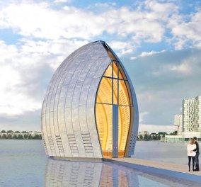 Αυτή η εκκλησιά - πλωτό έργο τέχνης είναι ότι πιο πρωτότυπο έχετε δει! Δημιούργημα  Ολλανδού με μεγάλη φαντασία!  - Κυρίως Φωτογραφία - Gallery - Video