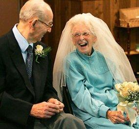 Dum spiro spero: 16 υπέργηρα  ζευγάρια παντρεύονται! Εκείνος & εκείνη στα 100 ή περίπου - Κυρίως Φωτογραφία - Gallery - Video
