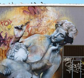 Greek Mythos: Θεοί & ημίθεοι της Ελληνικής μυθολογίας & πολύχρωμα γκράφιτι εντυπωσιάζουν σε δρόμο της Ισπανίας! - Κυρίως Φωτογραφία - Gallery - Video