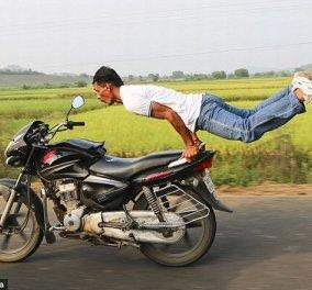 Απίστευτο βίντεο: Ινδός κάνει γιόγκα επάνω σε μοτοσικλέτα με 65 χλμ./ώρα και μας αφήνει όλους άφωνους!  - Κυρίως Φωτογραφία - Gallery - Video